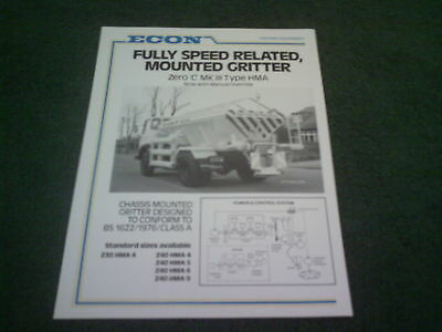 1983 / 1984 Econ Chassis Mounted Gritter Single Sheet Brochure Dodge Commando