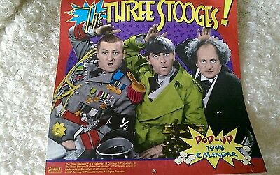 Collectable 1998 The Three Stooges Pop-Up Calendar