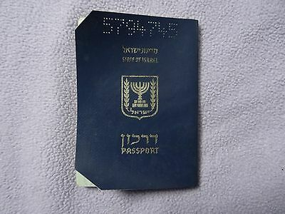 Israel Collectible Expired Cancelled Soft Cover Passport + Stamps