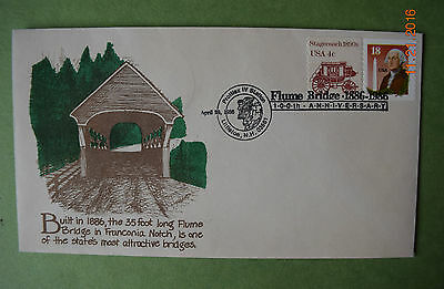 Symphony in Stamps:  COVER -  Flume Bridge, NH