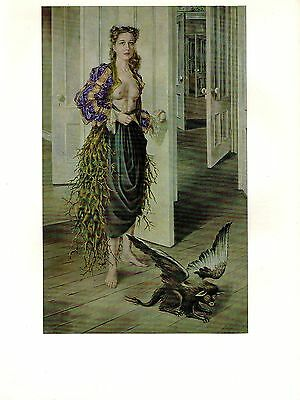 """1973 Vintage SURREALISM """"THE BIRTHDAY"""" by DOROTHEA TANNING Color Art Lithograph"""