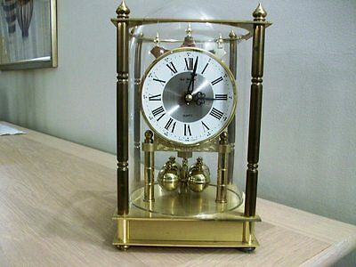 A VINTAGE BRASS ANNIVERSARY CLOCK  MADE IN WEST GERMANY  ROBt BLANFORD WORKING