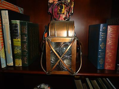 Vintage Antique Colonial Farm House Copper Lantern Colonial Light #2