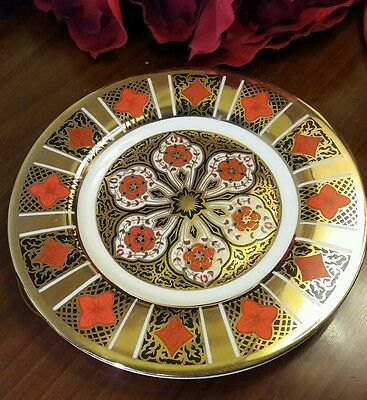 Burtondale Imari Derbyshire Side Plate Heavy Gold Red Blue