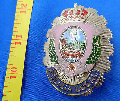 Spain Policia Local Police Badge Obsolete, Vintage, Old