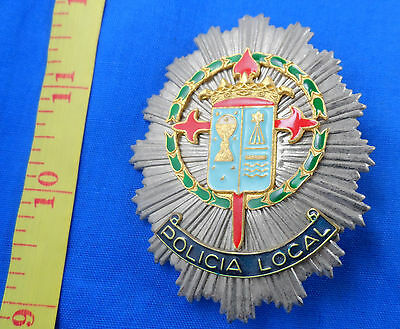Vintage Spain Policia Local Police Badge Obsolete, Unknown, Old