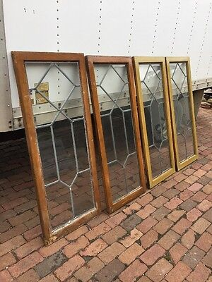 Sg 950 4 Available Price Separate Antique Leaded Glass Window
