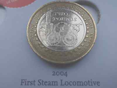 Rare Great Britain £2 Coin  Steam Locomotive Richard Trevithick Two Pound Coin