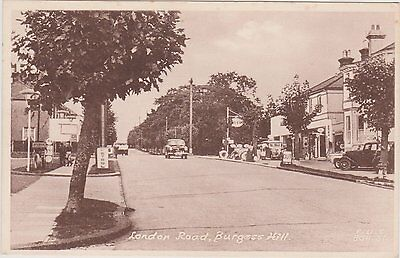 Burgess Hill postcard of London Road