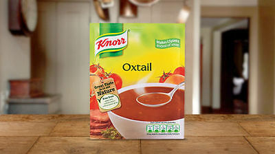 KNORR OXTAIL SOUP X 5 PACKETS - 5x60G - IRELAND
