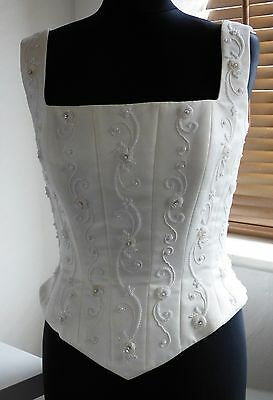 MonCheri/bridal bodice/ajustable/off white/beading&embroidery/fancy dress?