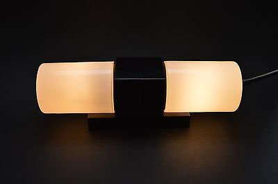 CZECH ART DECO 40's Milk Glass and BAKELITE WALL LIGHT LAMP Fixture