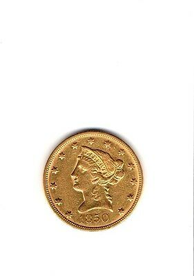 1850 $10 Liberty Gold Eagle Large Date