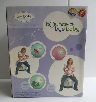Luna Lullaby Inflatable Bounce a Bye Baby Birthing Ball Pink Flutter By NEW