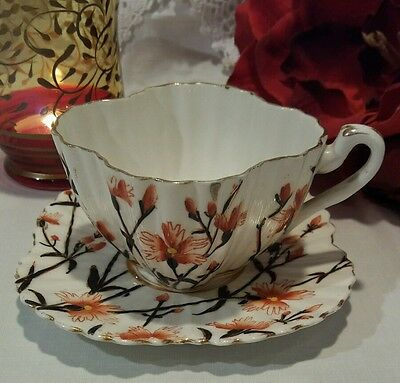 Early Wileman pre Shelley Alexandra Shape Cup and Saucer Cornflower Antique
