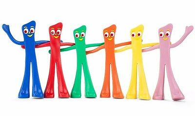 Brand New The Many Moods of Gumby 6 Piece Boxed Cartoon Box Set Toy NJ Croce