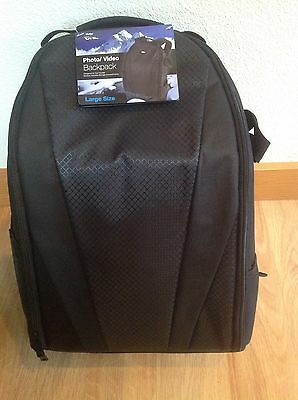 Vivitar Camera Backpack Case Bag - Holds Lenses And Accessories, DSLR Sony Canon