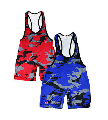Authentic Cliff Keen Low Cut Camo Lycra Wrestling Singlet NEW Sublimated USA