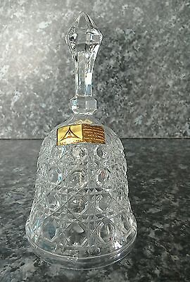 Lead crystal bell made in West Germany