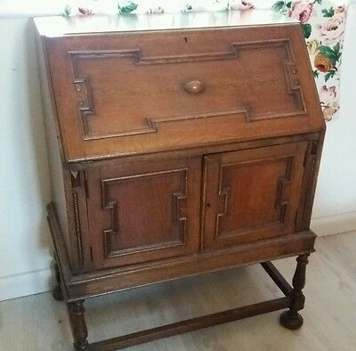 wooden antique gothic bureau