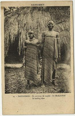 Dahomey ,Zagnanado in wedding dress. Unposted.