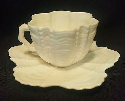 Rare Wileman pre Shelley Shell Pattern Cup and Saucer