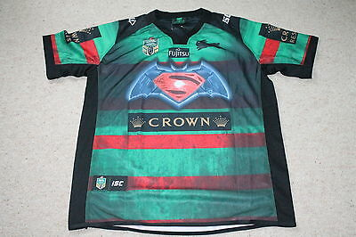 Bnwt Nrl Jersey 2016 South Sydney Rabbitohs Batman Vs Superman Xl Mens