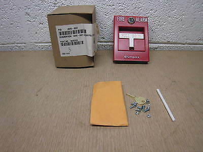New Simplex 4099-9001 Addressable Pull Station With Key Free Shipping