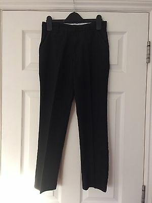 M&S Marks & Spencer Boys Black School Smart Trousers Age 10-11 years