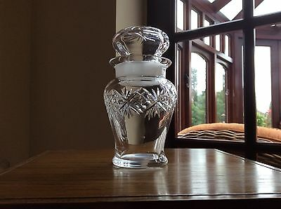 Vintage Gorgeous Small Crystal  /  Preserve Pot With Lid