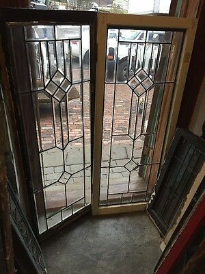 Sg 915 Matched Pair All Beveled Glass Sidelight Windows