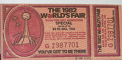 Unused Special Ticket to the 1982 Knoxville World's Fair