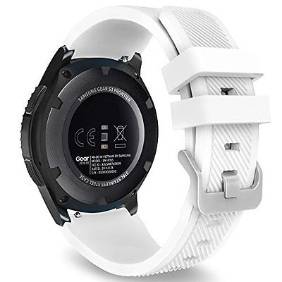 Gear S3 Classic Smart Watch Band Replacement Sport White Samsung Silicone Strap