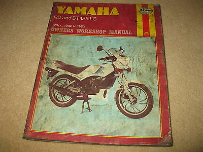 Haynes Yamaha Motorcycle Owners Workshop Manual Book - RD DT 125 LC