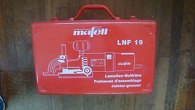 Mafoll biscuit jointer Type LNF 19