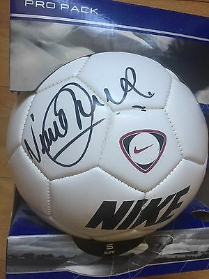 Vinnie Jones Signed Football + Proof, Wimbledon, Mean Machine, Wales CHRISTMAS