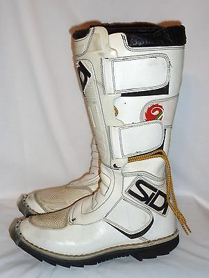 Sidi  Motorcycle Motocroos Boots / White/black  Us 8 Made In Italy