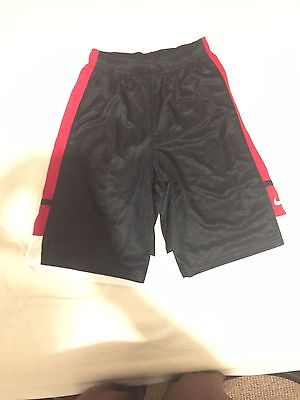 Nike Men's  Large Basketball Shorts (Red, Black and White)