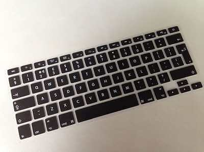 Silicone Keyboard Skin cover for UK Apple 13' 15 Macbook Pro with Retina display