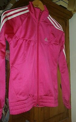 Brand New With Tags Age 12  13 - 14 Genuine Adidas Pink Zipper Tracksuit Jacket
