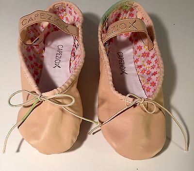 Ballet shoes girls size 3 M Capezio upper leather pink DANCE Preowned kids