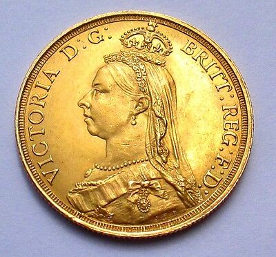1887  £2 Two Pounds Double Sovereign Gold Coin
