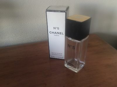 Chanel No 5 Empty EDT Spray bottle and Box