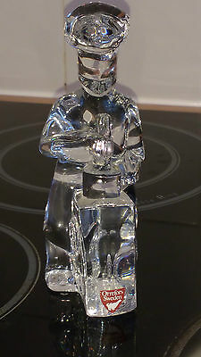 Orrefors Crystal Glass Figure Cook / Chef    Xmas Present