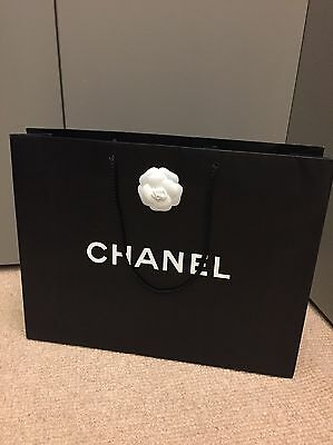 Chanel Shopping Gift Bag Regular Size 100% Genuine With Magnolia