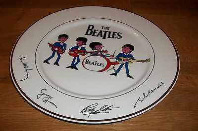 The Beatles Signature Porcelain Plate - Gold Rimmed. Highly Collectable