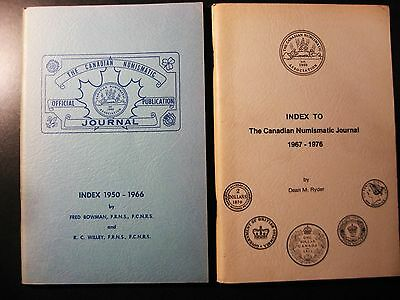 (2) Index To The Canadian Numismatic Journal 1950-66 Bowman 1967-76 Ryder