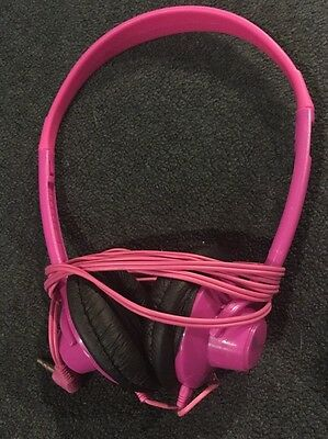 Virgin America Airline Pink Headphones On Ear Padded Stereo