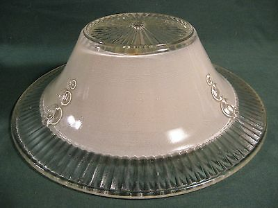 """Vintage Art Deco Pressed Glass Ceiling Shade 10-1/2"""""""