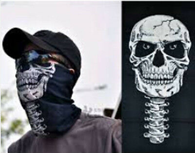 Skull Face mask Shield Neck Headwear Bandana for motorcycle,skeleton,holloween